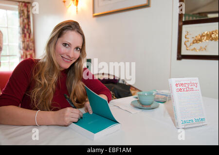 Hay-on-Wye, UK. 29th November, 2014. Laura Bates talks at the fifteenth Hay Festival Winter Weekend which takes - Stock Photo