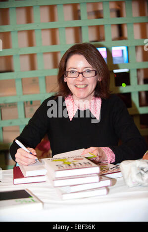Hay-on-Wye, UK. 29th November, 2014. Mary O'Hara, author of Austerity Bites,  at the fifteenth Hay Festival Winter - Stock Photo