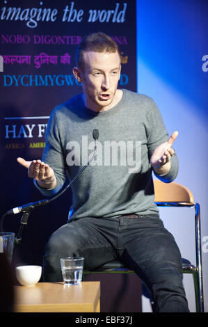 Hay-on-Wye, UK. 29th November, 2014.  Language experts David and Ben Crystal (pictured Ben Crystal) at the fifteenth - Stock Photo
