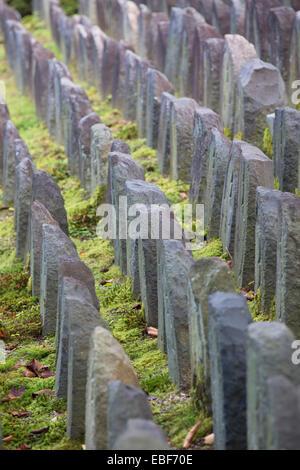 Holy stones at Gangoji Temple (UNESCO World Heritage Site), Nara, Kansai, Japan - Stock Photo