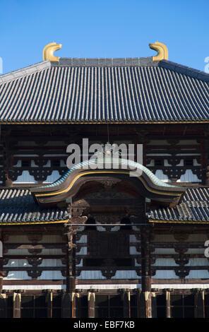 Todaiji Temple (UNESCO World Heritage Site), Nara, Kansai, Japan - Stock Photo