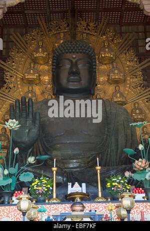 The Daibutsu (Great Buddha) inside Todaiji Temple (UNESCO World Heritage Site), Nara, Kansai, Japan - Stock Photo
