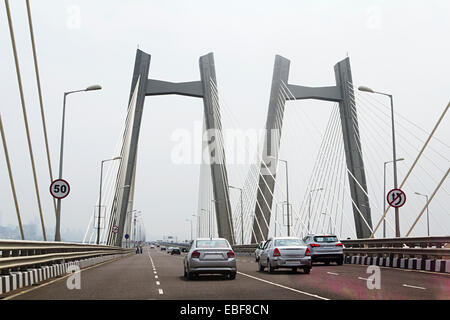 india Mumbai  Bridge  Flyover - Stock Photo