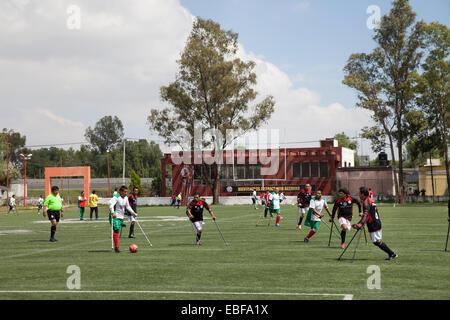 Guerreros Aztecas, amputee soccer team in Mexico - Stock Photo