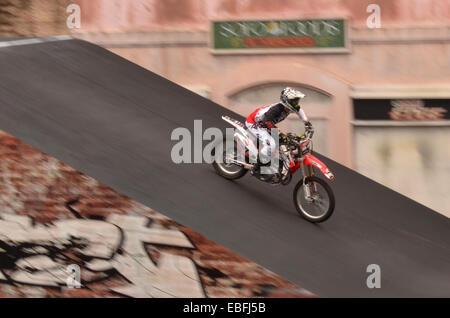 GOLD COAST, AUS -  NOV 06 2014:Hollywood Stunt Driver 2 in Movie World Gold Coast Queensland Australia.It's an extreme - Stock Photo