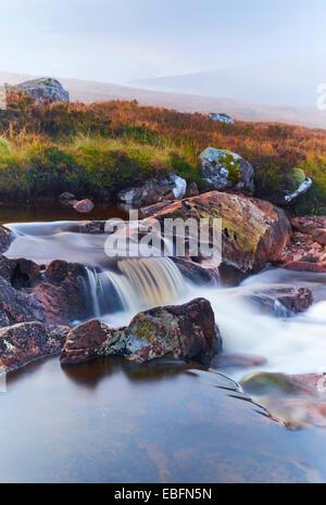 Top of Rannoch Moor, Scotland, UK - Stock Photo
