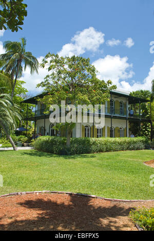 GARDEN ERNEST HEMINGWAY HOME MUSEUM KEY WEST OLD TOWN HISTORIC DISTRICT FLORIDA USA - Stock Photo
