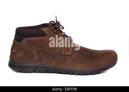 Profile of a brown Chukka Boot Shoe - Stock Photo