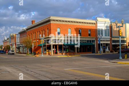 Quiet Sunday morning in Laramie, Wyoming, USA. - Stock Photo