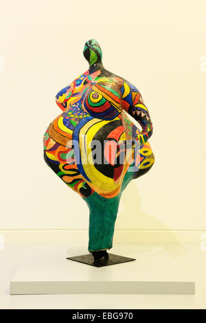 Elizabeth, Nana, by Niki de Saint Phalle, Musee d'Art Moderne et Contemporain, Strasbourg, Département Bas-Rhin, - Stock Photo