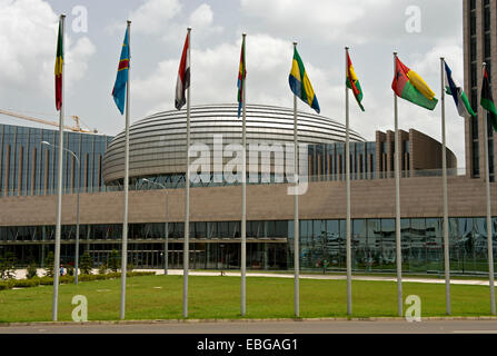 Dome of the building of the African Union, AU, African Union Conference Center and Office Complex, AUCC, Addis Ababa - Stock Photo