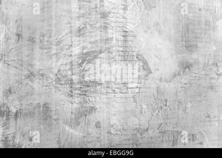 Texture of raugh plastered wall with grey cement plaster - stucco. - Stock Photo