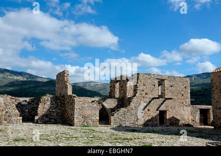 The outbuildings of the abandoned Monastery of Panagia tou Sinti in the Xeros Vally Cyprus - Stock Photo