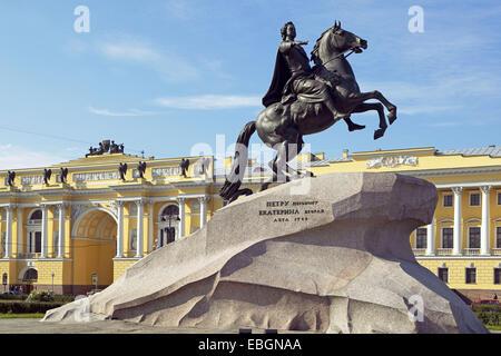 Saint Petersburg, horseback rider - Stock Photo