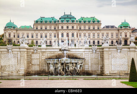 VIENNA - OCTOBER 20: Belvedere palace on October 20, 2014 in Vienna, Austria. It's a historic building complex, - Stock Photo