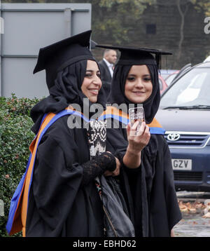 Bradford, West Yorkshire, Great Britain, Europe. Tuesday, December 1st, 2014. The first graduation ceremonies from - Stock Photo