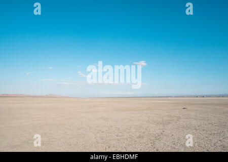 Dry lake bed, El Mirage, Victorville, California, USA - Stock Photo