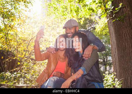 Friends taking selfie - Stock Photo
