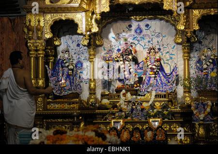Iskcon Temple in New Delhi India - Stock Photo