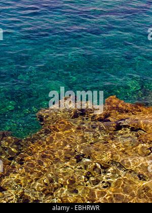 Rocks under water at Protaras, Cyprus, Europe. - Stock Photo
