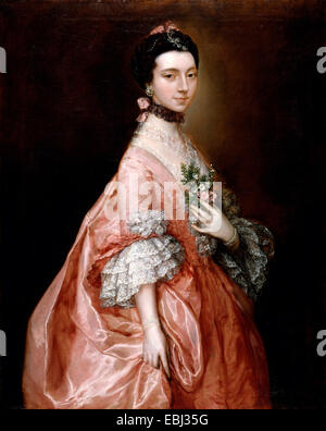 Thomas Gainsborough, Mary Little, Later Lady Carr. Circa 1763. Oil on canvas. Yale Center for British Art, New Haven, - Stock Photo
