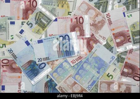 Euro notes. Euros - Stock Photo