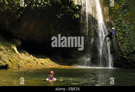 Canyoning between Pokhara and  Kathmandu, Nepal - Stock Photo