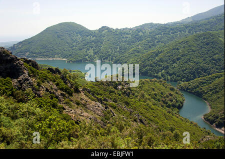 Alesani storage lake, France, Corsica - Stock Photo