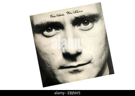 Face Value was the debut solo album by Genesis front man Phil Collins, released in 1981. - Stock Photo