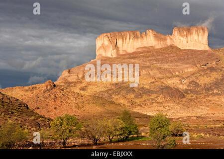Table Mountain in Djebel Sarhro, Morocco, Souss-Massa-Dara�, Djebel Sarhro - Stock Photo