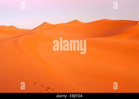 sand dunes in Sahara, Morocco, Souss-Massa-Dara�, Erg Chegaga - Stock Photo