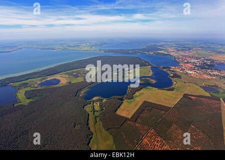 Waren at lake Mueritzsee and Koelpinsee, Germany, Mecklenburg-Western Pomerania, Waren an der Mueritz - Stock Photo