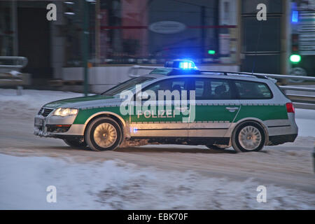 police operation in winter, Germany, North Rhine-Westphalia - Stock Photo