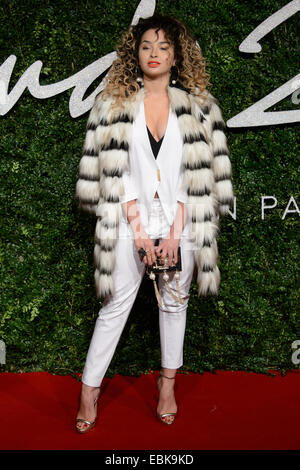 Ella Eyre at The British Fashion Awards 2014, in London. - Stock Photo