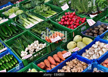 vegetable market, Germany - Stock Photo