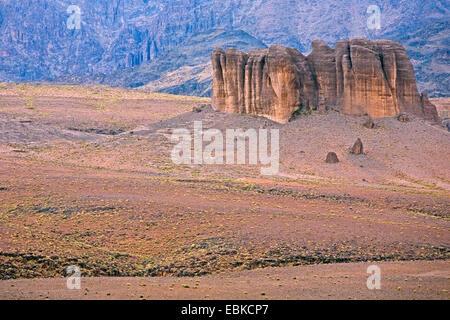 table mountain, Morocco, Souss-Massa-DaraÔ, Djebel Sarhro - Stock Photo