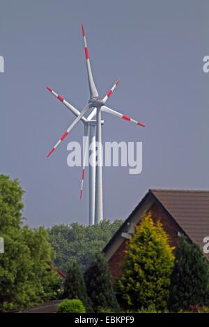 wind power stations near housing estate