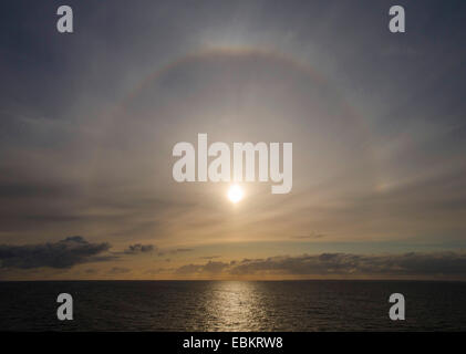 halo above the sea, Great Belt, Denmark, grosser belt - Stock Photo