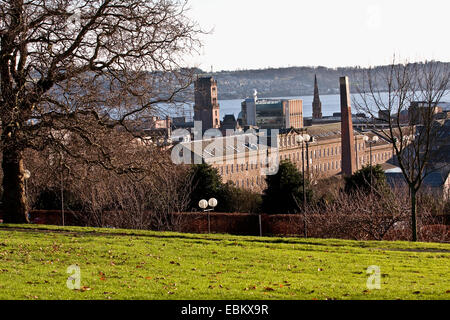 A view of The Tay Works was one of the longest textile mills in Britain owned by the Gilroy Brothers and Co in Dundee,UK - Stock Photo