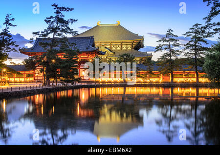 Nara, Japan at Todaiji Temple at twilight. - Stock Photo