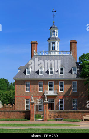 Governors Palace, Colonial Williamsburg, Virginia, USA - Stock Photo