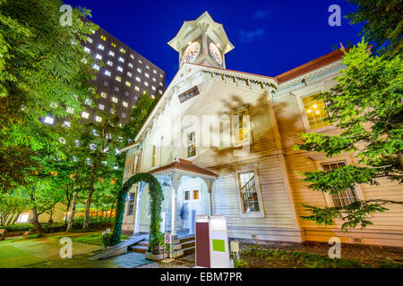 Sapporo, Japan at the Sapporo Clock Tower. - Stock Photo