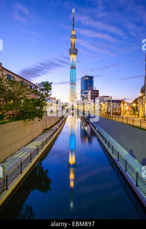 Tokyo, Japan cityscape in the Sumida District. - Stock Photo