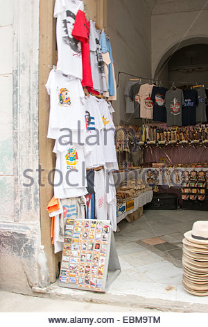 Small private souvenir store in a house living room in Old Havana - Stock Photo