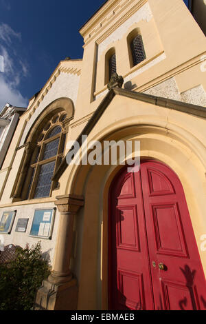 Village of Aberdovey, Wales. Picturesque view of the English Chapel on Aberdovey's seafront. - Stock Photo