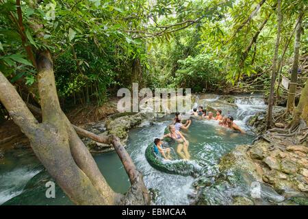 krabi hot spring waterfall