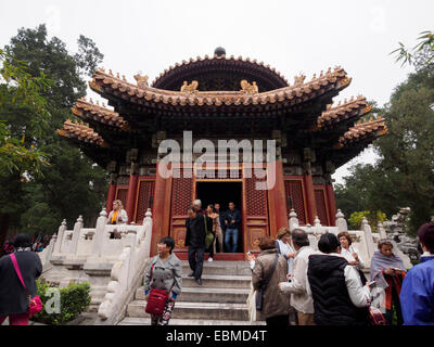 Pavilion Of One Thousand Autumns in the Imperial Garden of Forbidden City, Beijing, China, Asia - Stock Photo