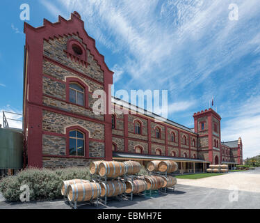 Chateau Tanunda winery in the Barossa Valley wine region of South Australia - Stock Photo