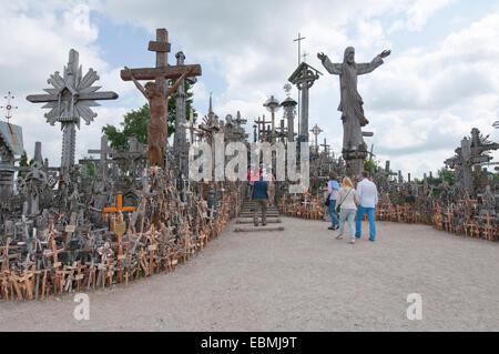 Hill of Crosses, Šiauliai, Šiauliai District Municipality, Lithuania - Stock Photo