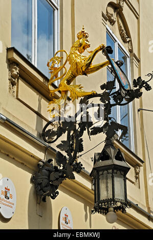 Sign of an inn, Weinhaus Neuner, Munich, Upper Bavaria, Bavaria, Germany - Stock Photo